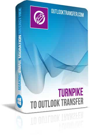 Turnpike a transferência do Outlook