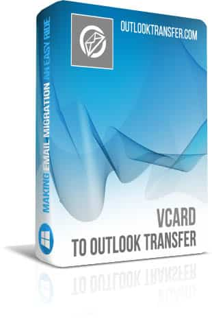 Vcard to Outlook Transfer boxshot image