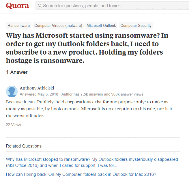 Why has Microsoft stooped to ransomware?