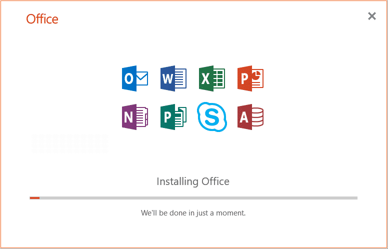 Microsoft Office Installation Prozess