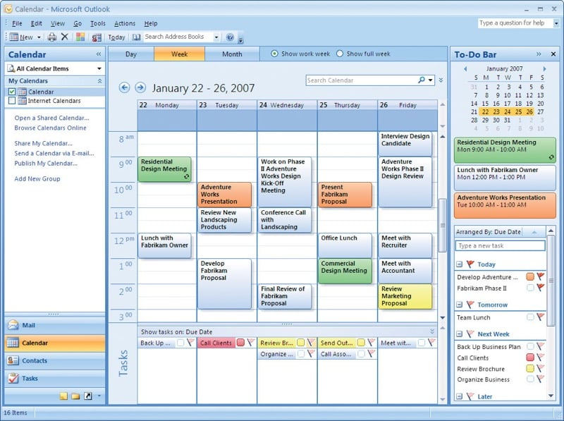 calendario di Outlook