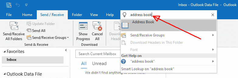 Outlook - Address Book