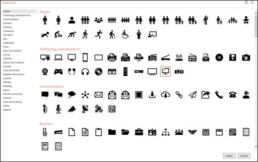 Outlook visuele graphics icons