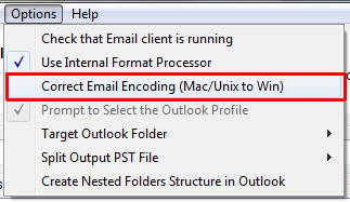 Correct Mac OS encoding while importing to Outlook for Windows