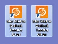 Mac Mail naar Outlook Transfer bureaubladpictogrammen