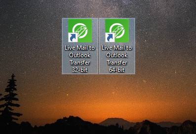 Live Mail to Outlook Transfer 64 bit and 32 bit applications