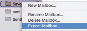Mac Mail - exporting mailbox