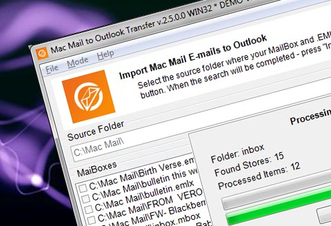 Mac Mail til Outlook Transfer