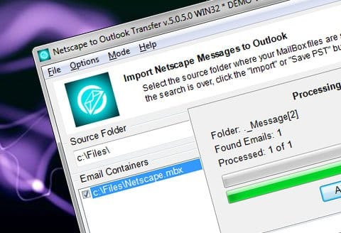 Netscape, Outlook-Transfer