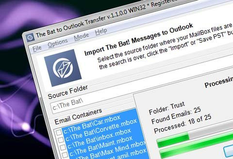 Licencia de The Bat! to Outlook Transfer