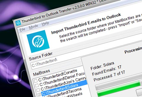 Thunderbird til Outlook Transfer