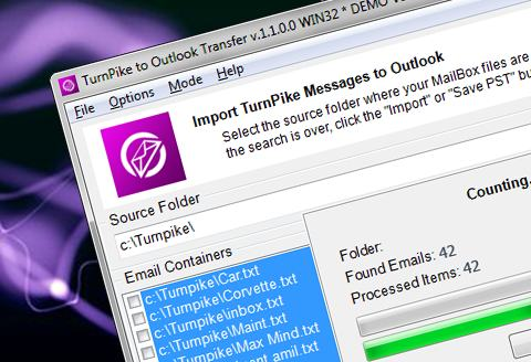 Turnpike de Transferencia de Outlook