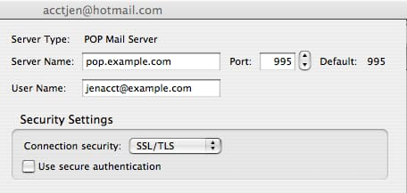 Thunderbird Server POP3 SMTP