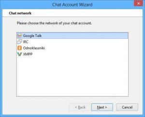 Thunderbird chat network