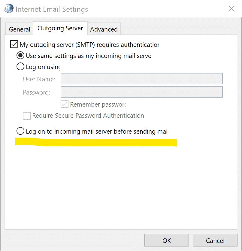 Account settings - logon