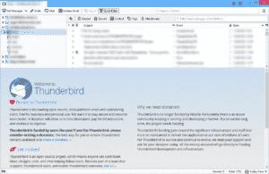 Thunderbird Welcome
