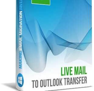 Live Mail para o Outlook Converter Box