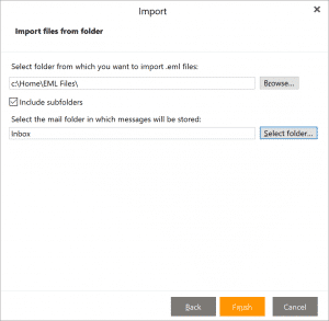 eM Client Import eml files and folders