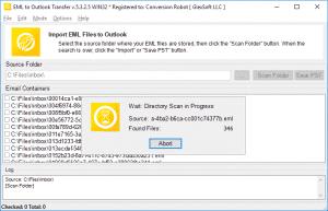 EML to Outlook Transfer - Folders Scan