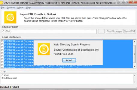 EML за Outlook трансфер