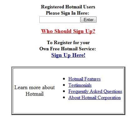 Hotmail 1996