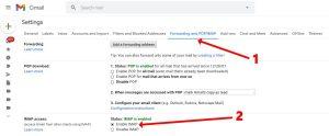 Gmail enable IMAP
