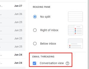 Gmail Conversation View