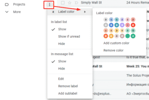 Assigning color to the Gmail label
