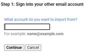 Sign in other email account
