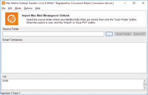 Mac Mail converter - browse button