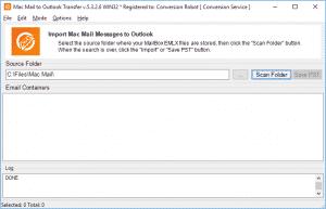 Mac Mail converter - main screen