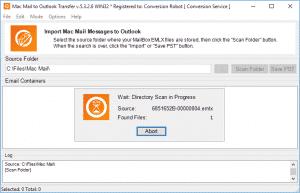 Mac Mail converter - folders scanning