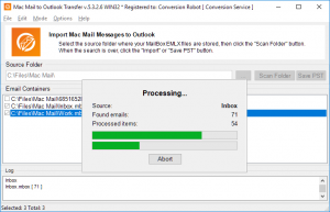 Mac Mail converter - processing emails