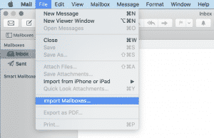 Mac Mail import Mailboxes...