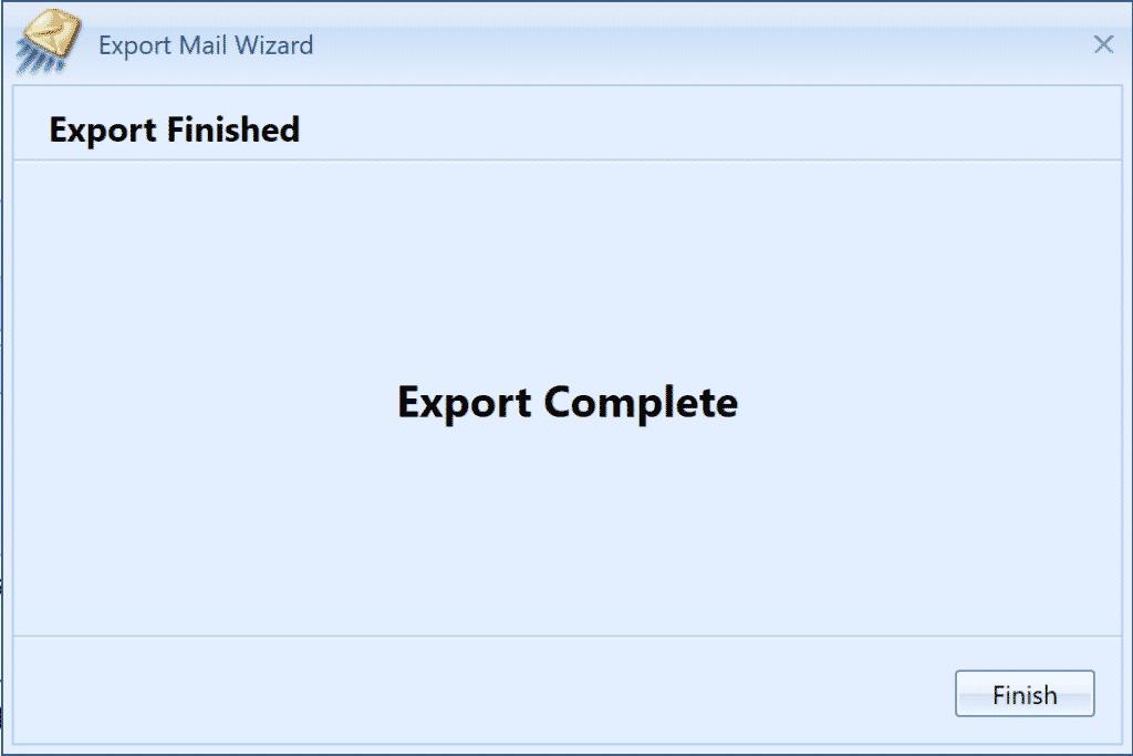 MailCOPA Export Complete