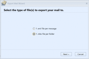 MailCOPA export to mbox file