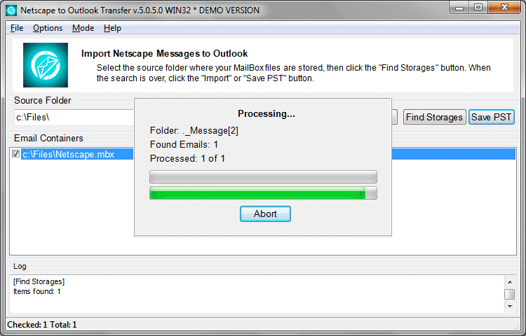 Netscape till Outlook-transfer full-4