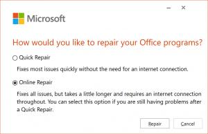 Office online repair