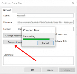 Komprimieren der Outlook-Datendatei