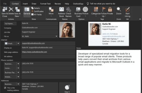 Outlook-contactpersoon