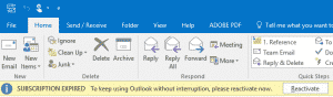 Outlook License Expired