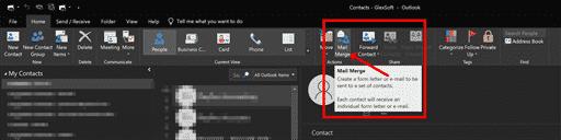Outlook-Aktionen Anhänge zusammenführen