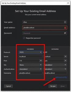 Setup existing Email Address