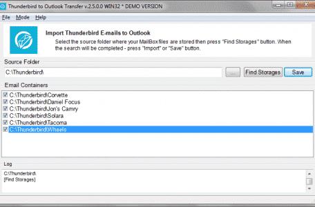 Thunderbird Outlook Transfer