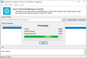 Thunderbird to Outlook Transfer screenshot
